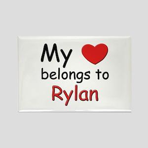 My heart belongs to rylan Rectangle Magnet