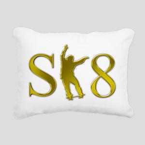 sk8-k-patinador-dorado Rectangular Canvas Pillow