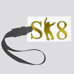 sk8-k-patinador-dorado Large Luggage Tag