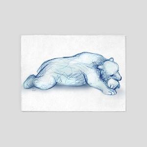 polar bear napping 5'x7'Area Rug