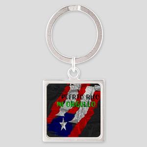 Puerto Rico, My Pride Square Keychain