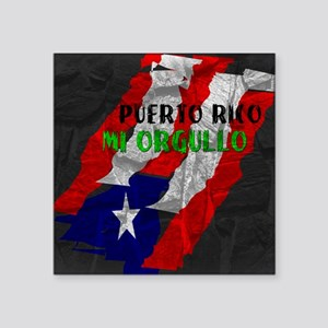 "Puerto Rico, My Pride Square Sticker 3"" x 3"""