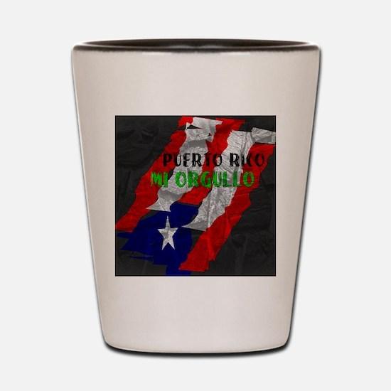 Puerto Rico, My Pride Shot Glass