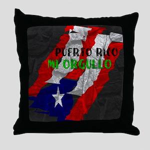 Puerto Rico, My Pride Throw Pillow