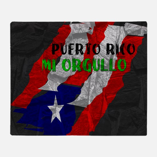 Puerto Rico, My Pride Throw Blanket