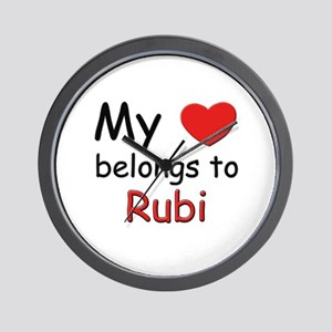 My heart belongs to rubi Wall Clock