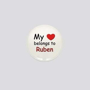 My heart belongs to ruben Mini Button