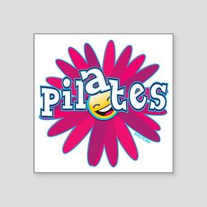 "PILATES SMILEY FLOWER copy Square Sticker 3"" x 3"""
