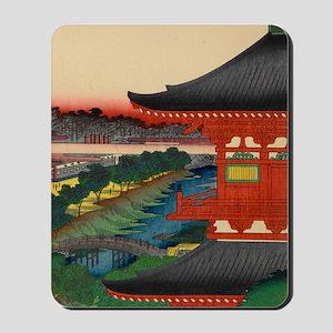 One-Hundred-Famous-Views-of-Edo-Art-Prin Mousepad
