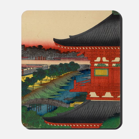 One-Hundred-Famous-Views-of-Edo-Art-Prin Mousepad