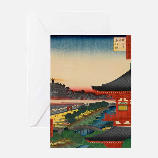 One-Hundred-Famous-Views-of-Edo-Art- Greeting Card