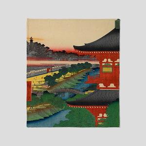 One-Hundred-Famous-Views-of-Edo-Art- Throw Blanket