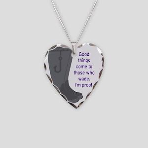 Fishing_Wade_Purple Necklace Heart Charm
