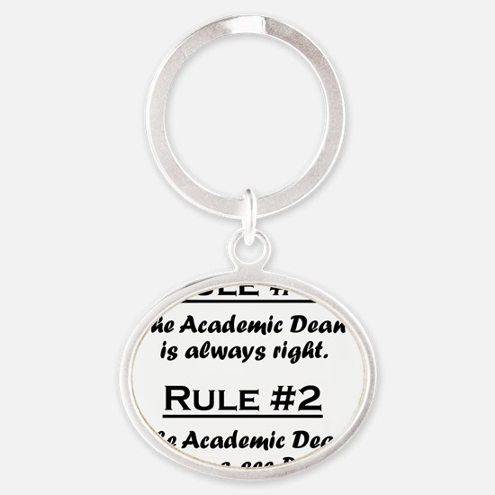 Rule Academic Dean Oval Keychain