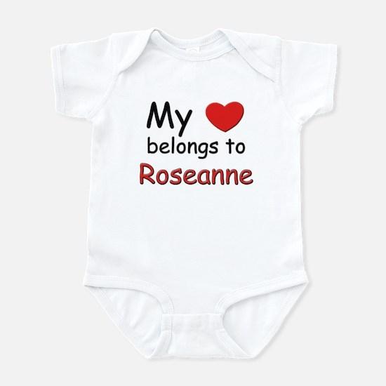 My heart belongs to roseanne Infant Bodysuit