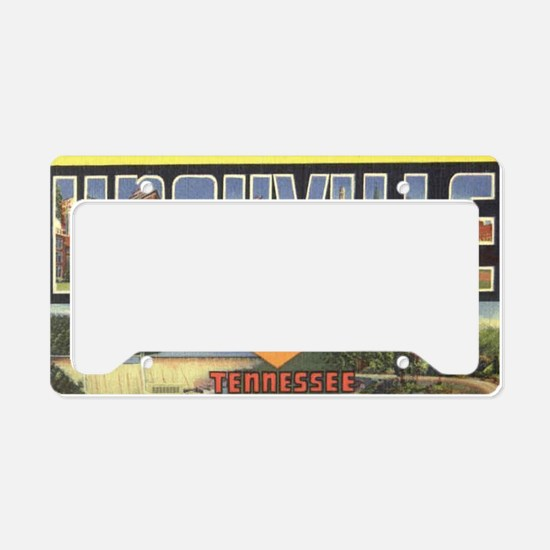 Vintage Knoxville Design License Plate Holder