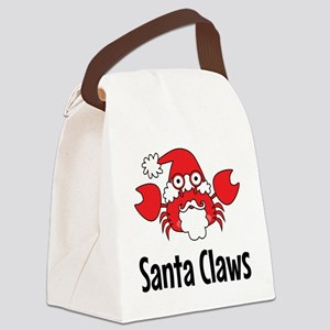 Santa Claws Canvas Lunch Bag