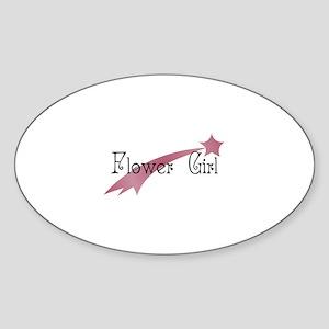 Flower Girl - Shooting Star Oval Sticker