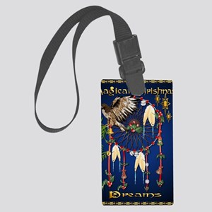 Magical Christmas Dreams PosterP Large Luggage Tag