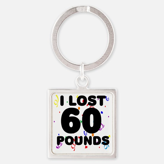 60Party Square Keychain