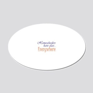 have class 2 blue and orange 20x12 Oval Wall Decal