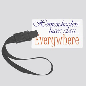 have class 2 blue and orange Large Luggage Tag