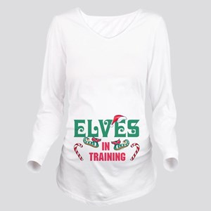 ELVES IN TRAINING Long Sleeve Maternity T-Shirt