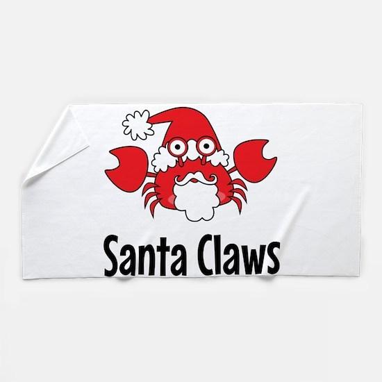 Santa Claws Beach Towel
