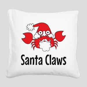 Santa Claws Square Canvas Pillow