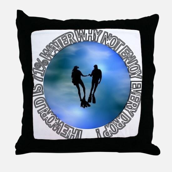 DIVER SP #16 Throw Pillow
