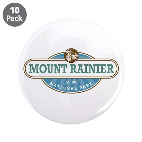"""Mount Rainier National Park 3.5"""" Button (10 pack)"""
