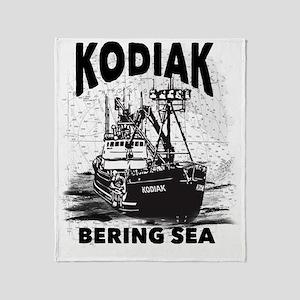 kodiak_bering_bw Throw Blanket