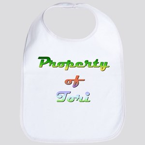 Property Of Tori Female Cotton Baby Bib
