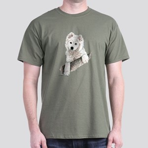 Samoyed Puppy Dog Dark Colored T-Shirt