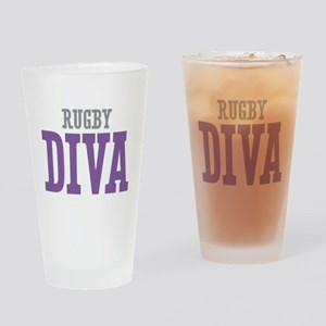 Rugby DIVA Drinking Glass