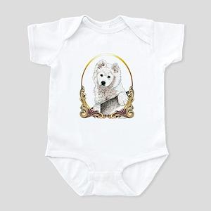 Samoyed Christmas/Holiday Infant Bodysuit