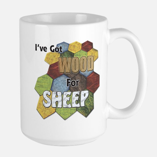 Wood 4 Sheep Mugs