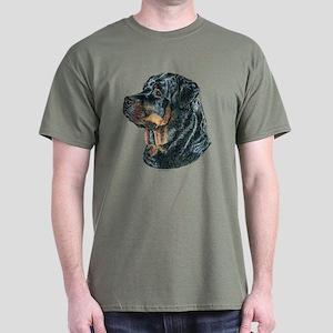 Rottweiler Dog Dark Colored T-Shirt