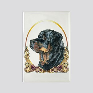 Rottweiler Christmas/Holiday Rectangle Magnet