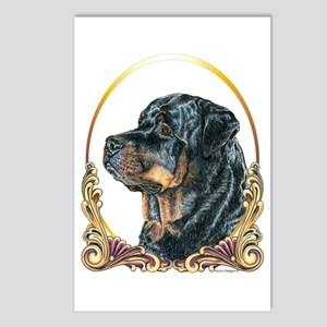 Rottweiler Christmas/Holiday Postcards (Package of