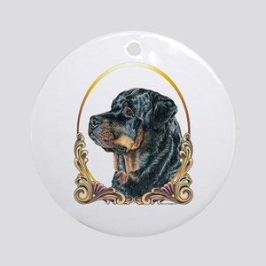 Rottweiler Christmas/Holiday Ornament (Round)