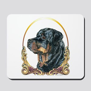 Rottweiler Christmas/Holiday Mousepad