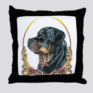 Rottweiler Christmas/Holiday Throw Pillow