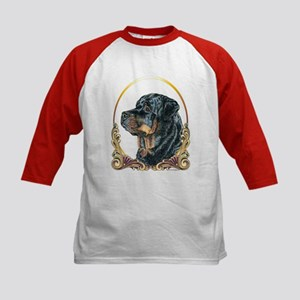 Rottweiler Christmas/Holiday Kids Baseball Jersey