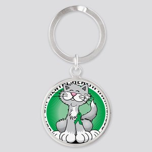 Paws-for-Mental-Health-Cat Round Keychain
