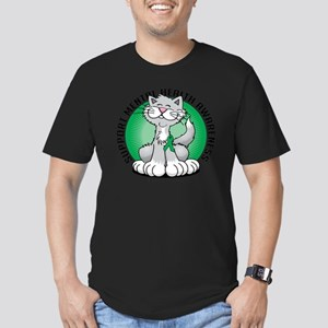 Paws-for-Mental-Health Men's Fitted T-Shirt (dark)