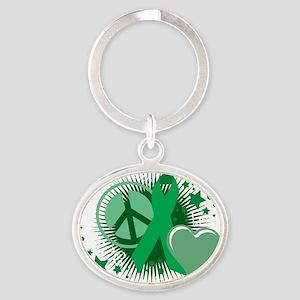 Mental-Health-PLC-blk Oval Keychain