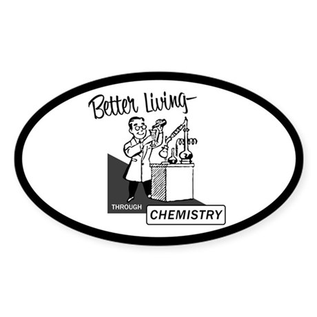 Chemistry Oval Sticker