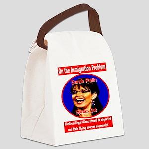 sarah_palin_immigration_transpare Canvas Lunch Bag