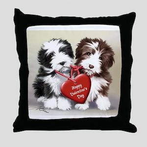 Be mine valentine Throw Pillow